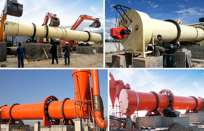 Cement Rotary Dryer Delivery Site