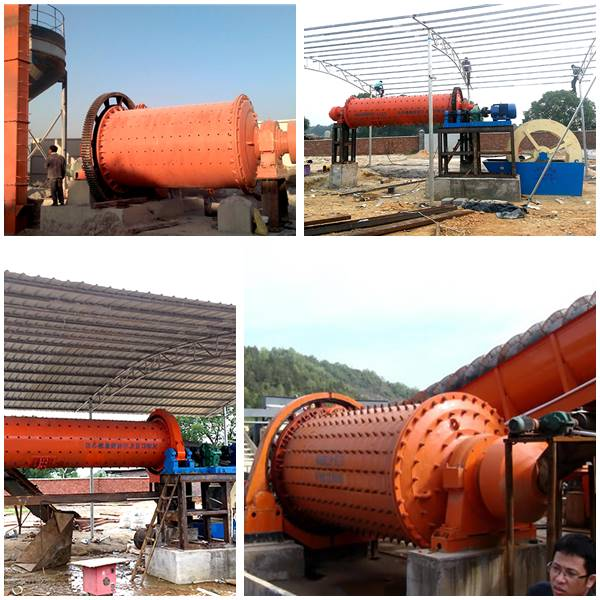Cone Ball Mill Work Site